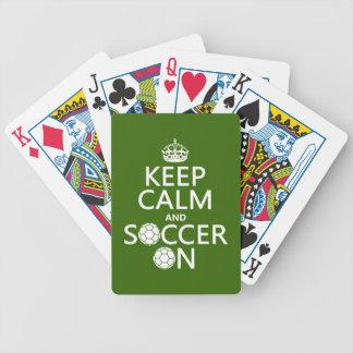Jeu De Cartes Gardez le calme et le football dessus