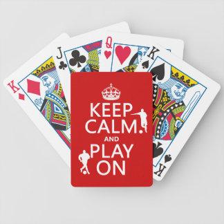 Jeu De Cartes Gardez le calme et le jeu sur (le