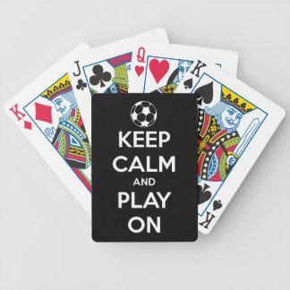 Jeu De Cartes Gardez le calme et le jeu sur le noir