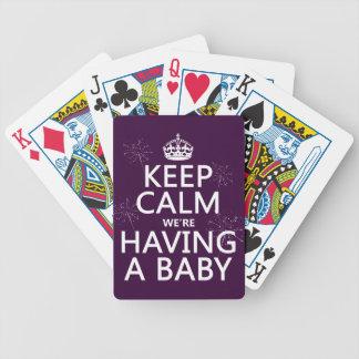 Jeu De Cartes Gardez le calme que nous avons un bébé (dans toute