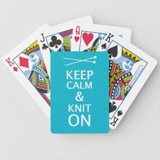 Jeu De Cartes Gardez le Knit calme dessus • Métiers {foncés}
