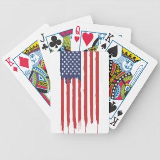 Jeu De Cartes Graffiti Etats-Unis de drapeau américain uni
