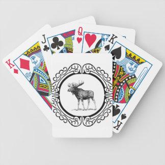 Jeu De Cartes grand art d'orignaux de taureau