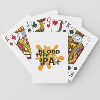 Jeu De Cartes Groupe sanguin drôle IPA de buveur de bière+