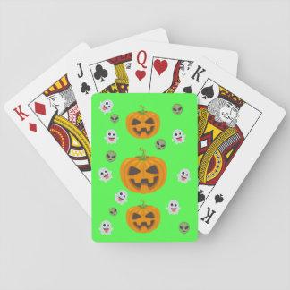 Jeu De Cartes Halloween noir Emoji