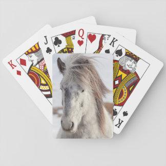 Jeu De Cartes Headshot islandais blanc de cheval