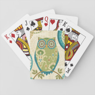 Jeu De Cartes Hibou décoratif avec des conceptions circulaires