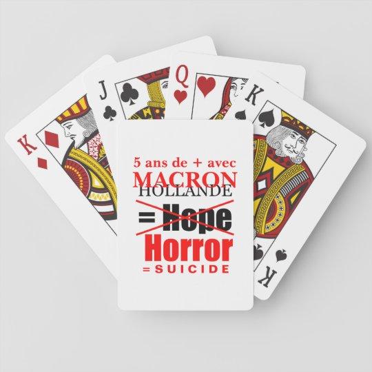 Jeu De Cartes Hollande et  Macron c'est l' Horreur cartes poker