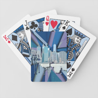 Jeu De Cartes Horizon | 3D bleu de New York City