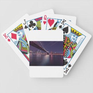 Jeu De Cartes Horizon de nuit de pont de New York City Brooklyn