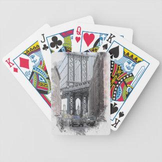 Jeu De Cartes Horizon de pont des Etats-Unis New York Manhattan