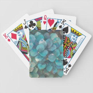 Jeu De Cartes Hortensia de turquoise