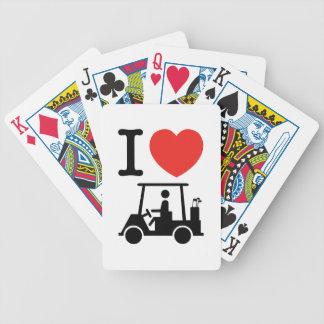 Jeu De Cartes I chariot de golf de coeur (amour)