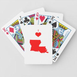Jeu De Cartes J'aime (coeur) la Louisiane