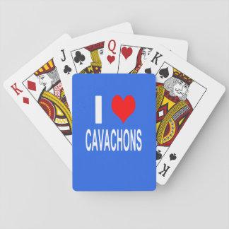 Jeu De Cartes J'aime des cartes de jeu de Cavachons, chien