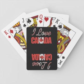 Jeu De Cartes J'aime des cartes de jeu du Canada
