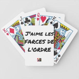 Jeu De Cartes J'aime les FARCES de l'ordre - Jeux de Mots