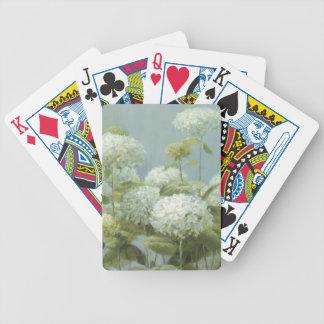 Jeu De Cartes Jardin blanc d'hortensia