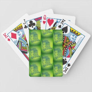 Jeu De Cartes jeu de pocker avec sujet faraó dans vert