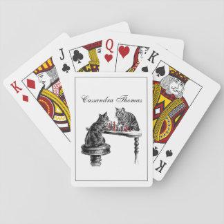 Jeu De Cartes Jeux de société deux chats jouant le rouge de