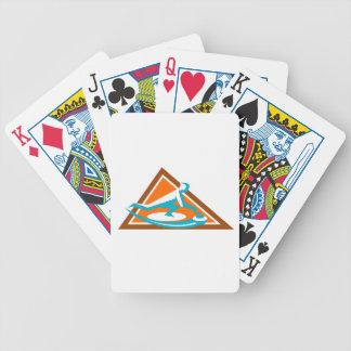 Jeu De Cartes Joueur de bordage glissant l'icône en pierre de