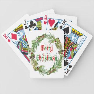 Jeu De Cartes Joyeux Noël rouge et vert