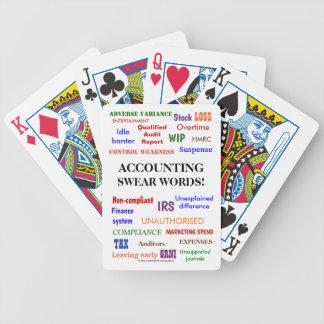 Jeu De Cartes La comptabilité jurent la plaisanterie drôle de