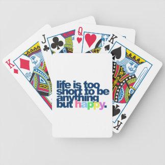 Jeu De Cartes La vie est trop courte pour être quelque chose
