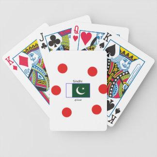 Jeu De Cartes Langue de Sindhi et conception de drapeau du