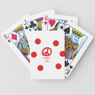 Jeu De Cartes Langue et conception arabes de symbole de paix