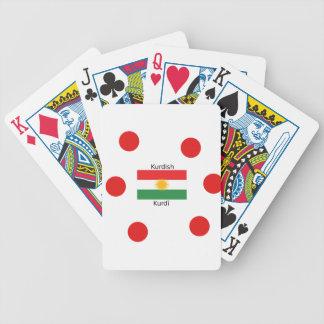 Jeu De Cartes Langue kurde et conception de drapeau du Kurdistan