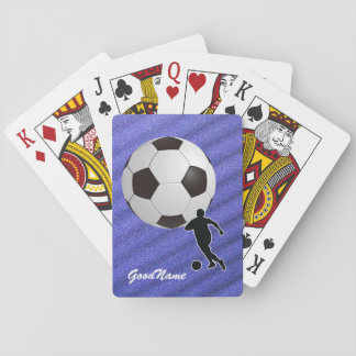 Jeu De Cartes Le football d'enthousiaste de sports,