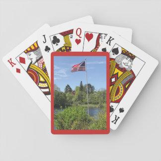 Jeu De Cartes Le parc du vétéran en automnes en cristal, cartes