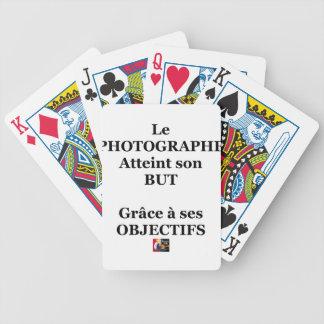 Jeu De Cartes Le PHOTOGRAPHE atteint son BUT grâce à ses OBJECTI