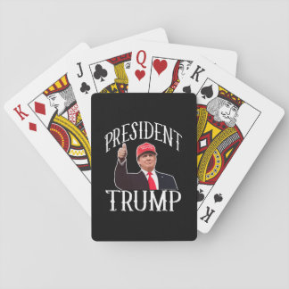 Jeu De Cartes Le Président Donald Trump Red Hat manie