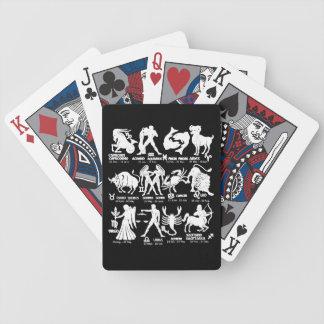 Jeu De Cartes Le zodiaque blanc noir signe des cartes de jeu de
