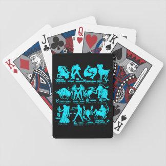 Jeu De Cartes Le zodiaque de noir bleu signe des cartes de jeu