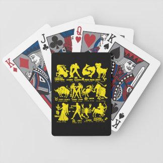 Jeu De Cartes Le zodiaque noir jaune signe des cartes de jeu de