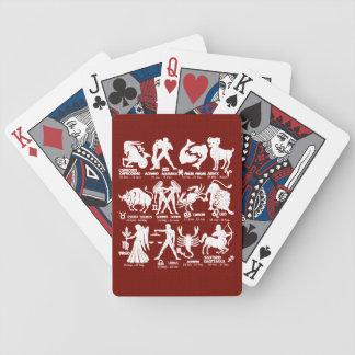 Jeu De Cartes Le zodiaque signe des cartes de jeu de tisonnier