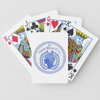 Jeu De Cartes L'ensemble grec de club d'épouses de cartes