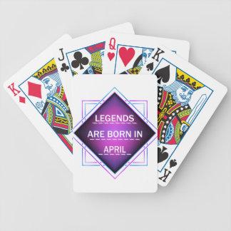Jeu De Cartes Les légendes sont nées en avril