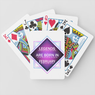 Jeu De Cartes Les légendes sont nées en février