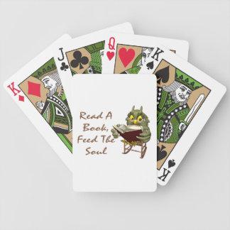 Jeu De Cartes Les livres alimentent à l'âme le hibou sage