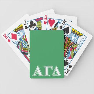Jeu De Cartes Lettres blanches et vertes d'alpha delta gamma