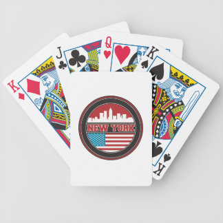 Jeu De Cartes L'horizon | Etats-Unis de New York diminuent