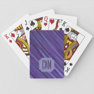 Jeu De Cartes Lilas violet pourpre de monogramme indifférent du