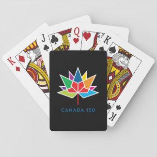 Jeu De Cartes Logo de fonctionnaire du Canada 150 - multicolore