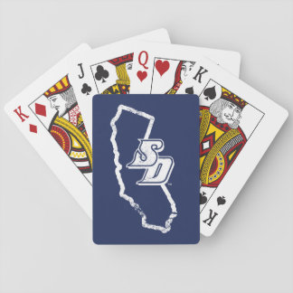 Jeu De Cartes Logo vintage d'état d'USD | la Californie