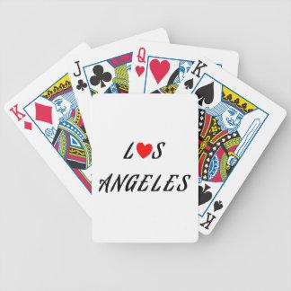 Jeu De Cartes Los Angeles coeur rouge