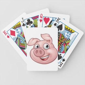 Jeu De Cartes Mascotte de personnage de dessin animé de porc